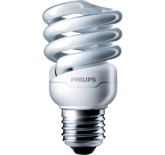 Philips Tornado T2 Spiral 12W 827 E27 | Zeer Warm Wit TL-lamp