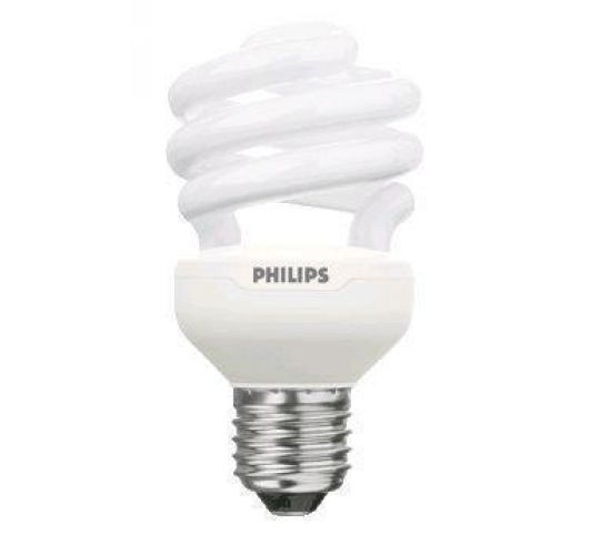 Philips Tornado T2 Spiral 15W 827 E27 | Zeer Warm Wit TL-lamp