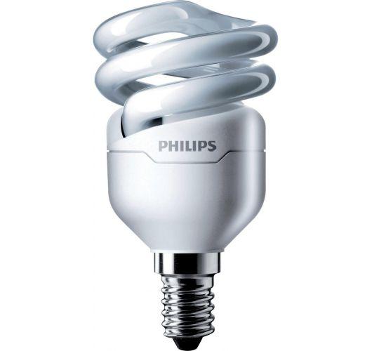 Philips Tornado T2 Spiral 8W 827 E14 | Zeer Warm Wit TL-lamp