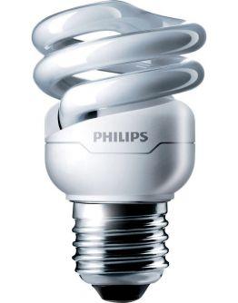 Philips Tornado T2 Spiral 8W 827 E27 | Zeer Warm Wit
