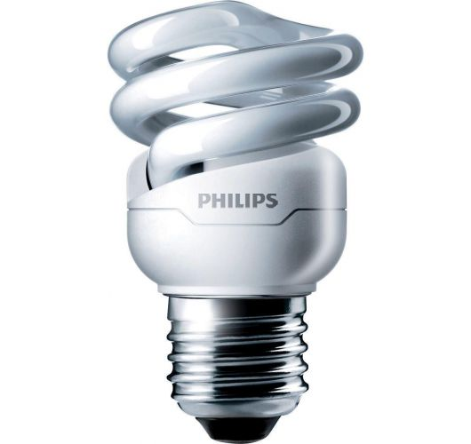 Philips Tornado T2 Spiral 8W 827 E27 | Zeer Warm Wit TL-lamp