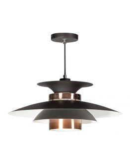Potenza Hanglamp zwart / koper (max 60w)