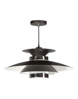 Potenza Hanglamp zwart / chroom (max 60w)