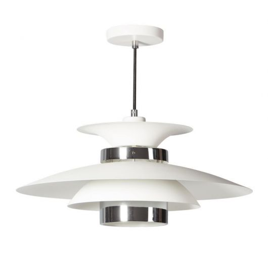 Potenza Hanglamp wit / chroom (max 60w) Overigen