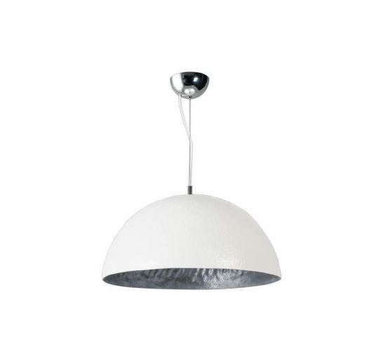 MezzoTondo Hanglamp Wit / Zilver 50 cm (max 60w) ACTIE op = op  Plafondlamp
