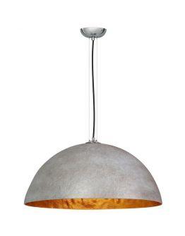 Hanglamp MezzoTondo  Grijs / Goud 70 cm (max 60w)