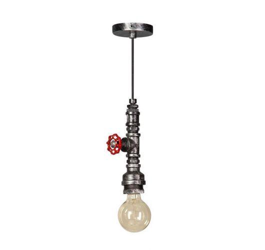 Fire Hose Hanglamp Vintage Zwart/Zilver (max 60w) Plafondlamp