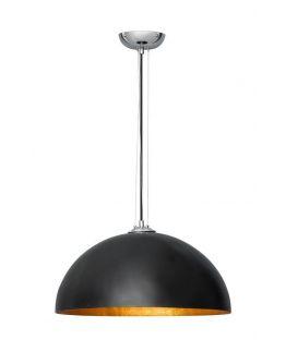 Hanglamp Mezzo Krijtverf Zwart Goud 50cm (max 60w)