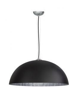Mezzo Krijt Hanglamp Zwart(krijtverf) / Zilver 70 cm (max 60w)