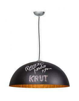 Hanglamp Mezzo Krijtverf Zwart Goud 70cm (max 60w)