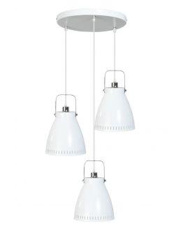 Acate Hanglamp Wit 3 Lichtpunten Rond (max 60W)