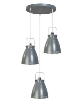 Acate Hanglamp Donker Grijs 3 Lichtpunten Rond (max 60W)
