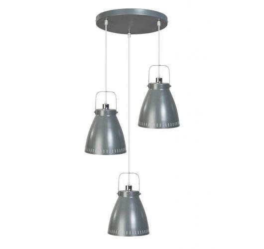 Acate Hanglamp Donker Grijs 3 Lichtpunten Rond (max 60W)  Plafondlamp