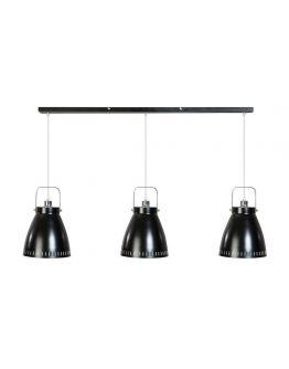 Acate Hanglamp Zwart 3 Lichtpunten Balk (max 60W)