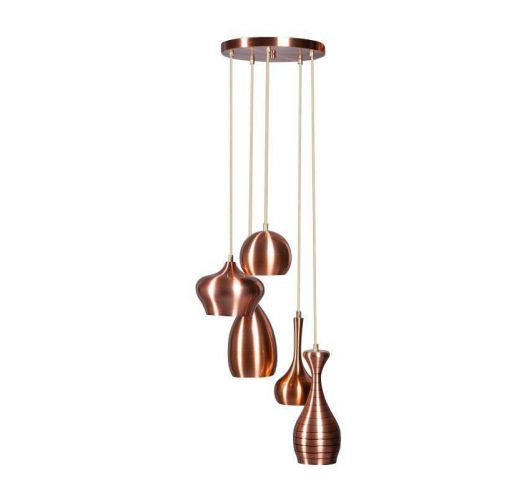 Ajaccio Hanglamp Koper (max 25w) Plafondlamp