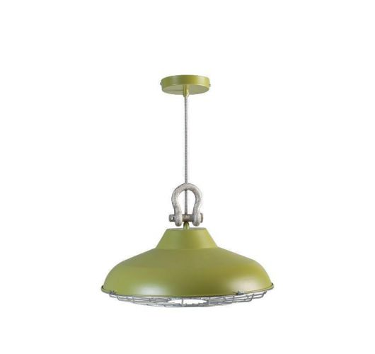 Industry Hanglamp Groen (max 60w) Plafondlamp