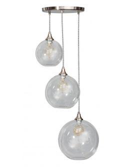 Calvello Hanglamp helder glas 3 lichtpunten (Max 60w)