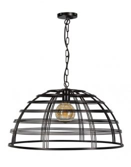 Barletta Hanglamp Zwart D70xH35 cm (Max. 75w)