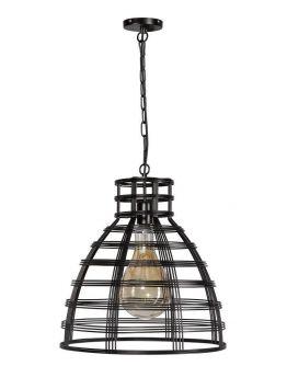 Molfetta Hanglamp Zwart D50xH51 cm (Max. 75w)
