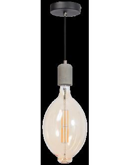 ETH Hanglamp Concrete | Grijs/Zwart