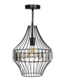 ETH Hanglamp Sparkle 31cm Matt Coffee / Helder Glas