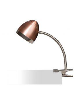 Harley Klemlamp Koper / Chroom (max 40w)
