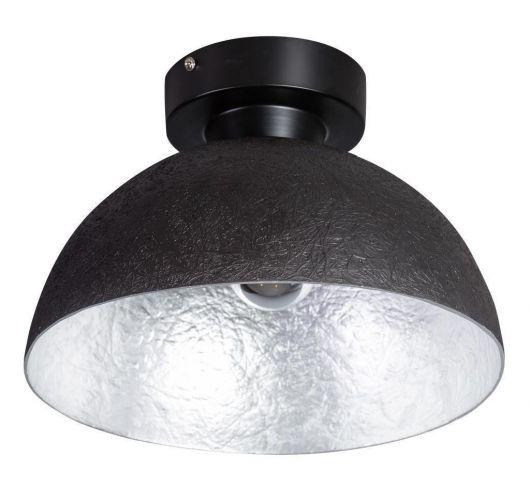 MezzoTondo Plafondlamp zwart / zilver (max 60w) Plafondlamp