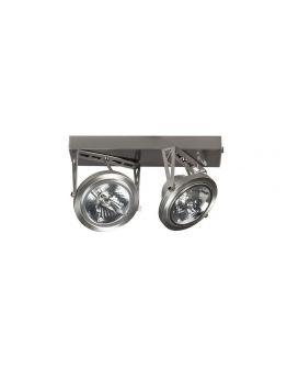 Plafond/Wandspot Lofar Staal Duo  (max 50w)