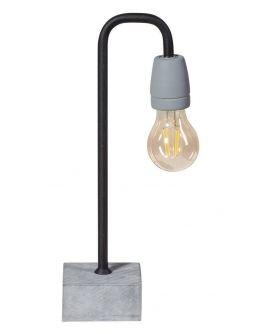 Concrete Bow Tafellamp poeder zwart (max. 60W)