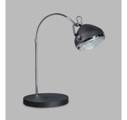 Headlight Tanglamp Zwart / Chroom (max 42w)