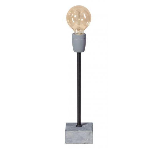 Concrete Straight Tafellamp poeder zwart (max. 60w) Tafellampen