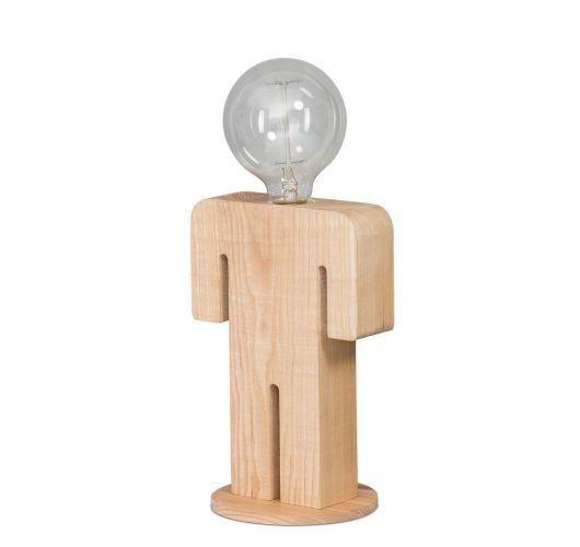 Houten tafellamp Adam (60W) Tafellampen