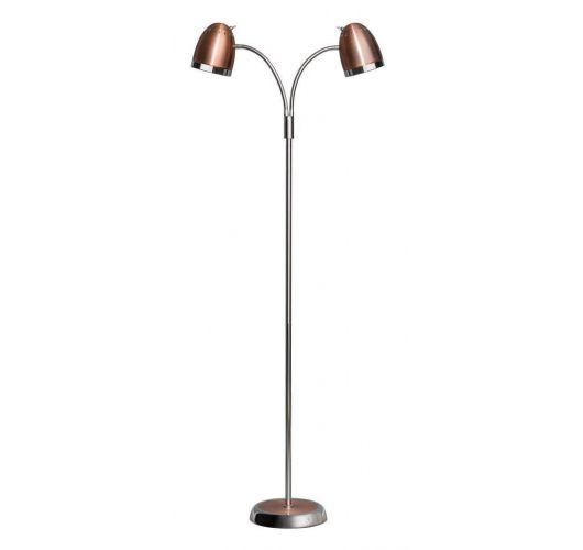 Harley Vloerlamp Koper / Chroom (max 60w) Vloerlampen