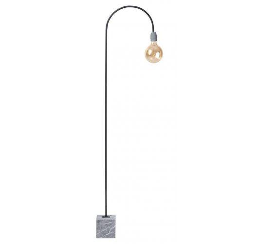 Concrete Bow Vloerlamp poeder zwart (max. 60w) Vloerlampen