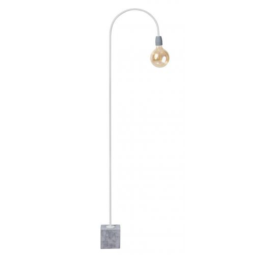 ETH Vloerlamp Concrete Bow | Wit/Grijs | H 157CM Vloerlampen