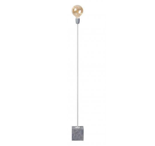 Concrete Straight Vloerlamp poeder wit (max 60w) Vloerlampen