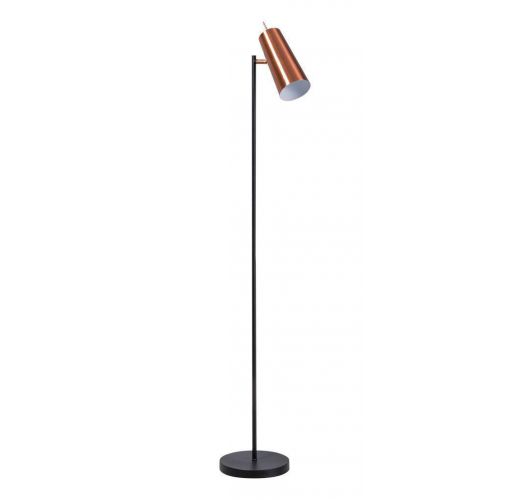 Brooklyn Vloerlamp zwart/koper (Max. 60w) Vloerlampen