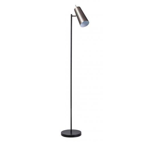 Brooklyn Vloerlamp zwart/staal (max 60w) Vloerlampen