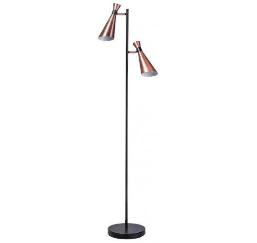 ETH Vloerlamp York | Zwart/Koper Vloerlampen