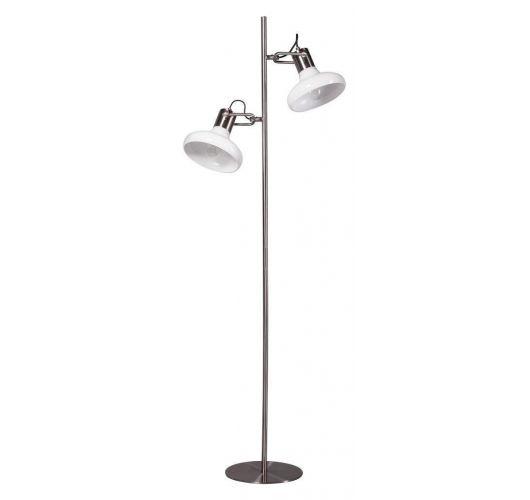 Deco Vloerlamp staal 2 lichtpunten (max 60w)