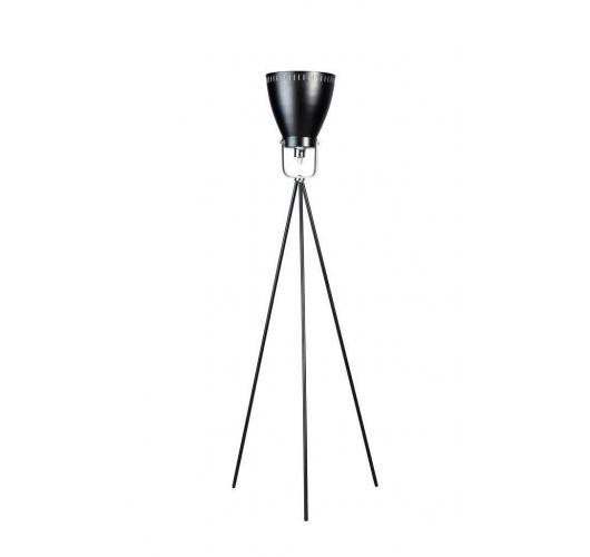 Acate Vloerlamp Zwart / Chroom (max 60W) Vloerlampen