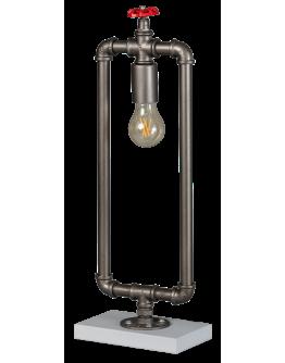 Fire Hose Tafellamp Vintage Zilver (Max. 60w)