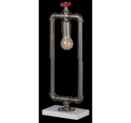 Fire Hose Tafellamp Vintage Zilver (Max. 60w) Tafellampen