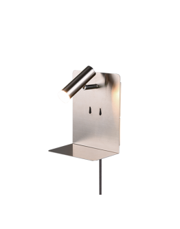 Trio Bedlamp Element LED USB | Nikkel Mat