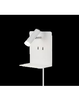 Trio Bedlamp Element LED USB | Wit Mat