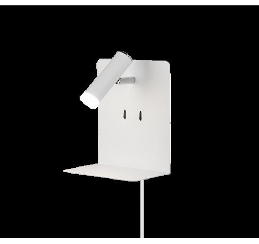 Trio Bedlamp Element LED USB | Wit Mat Bedlampen