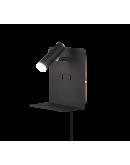 Trio Bedlamp Element LED USB | Zwart Mat Bedlampen