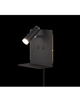 Trio Bedlamp Element LED USB | Zwart Mat