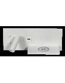 ETH Wandlamp Nighty Left LED 3W + 7W USB + Draadloos Laden | Wit Overigen