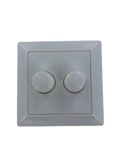 Knop en plaat tbv duo LED dimmer en plaat ral9010